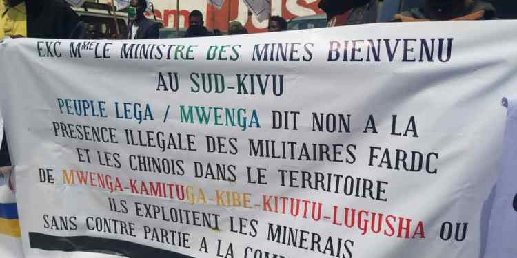 Sud-kivu/Mwenga : Les habitants exigent le retrait de militaires FARDC  et chinois dans les sites miniers