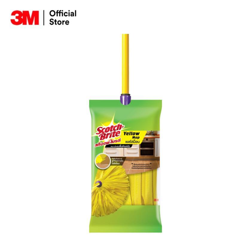 ไม้ถูพื้น 3M รุ่นไหนดี ไม้ถูพื้น 3M Scotch-Brite Yellow Mop 229