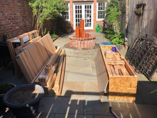 Cedar greenhouse kit materials