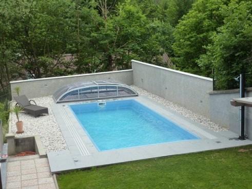 Poolüberdachung ELEGANCE 650 EVO Pool Überdachung Klarglas ...