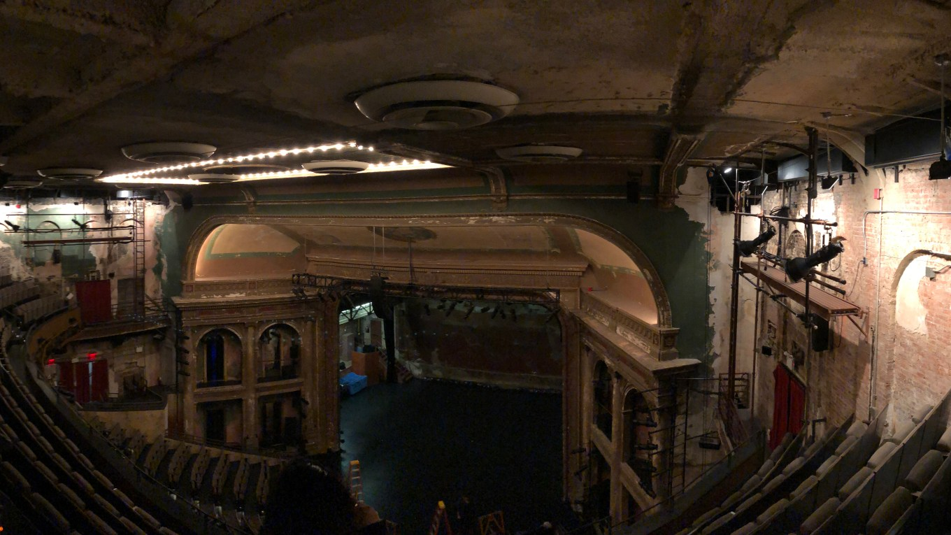 A panoramic view of the BAM Harvey Theater as captured during our paranormal investigation. Photo by Anthony Long 2018.