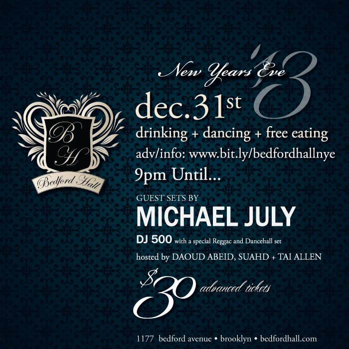 New Year's Eve Party at Bedford Hall