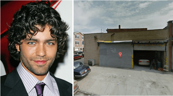 """Adrian Grenier, the lead in HBO's """"Entourage,"""" was spotted checking out a a 3,200-square-foot commercial garage in Clinton Hil"""