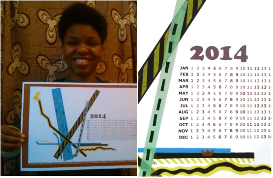 """Aisha Cousins holds up her latest fundraising project, a calendar with a mural inspired by the """"Mapping Soulville"""" project."""