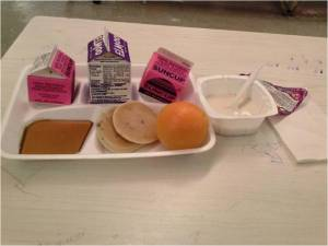 Breakfast tray from student submitted via Student Government powerpoint presentation.