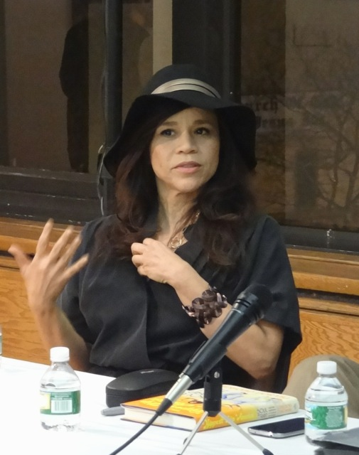 """Rosie Perez at Restoration Plaza for Nelson George's book signing of """"The Hippest Trip in America"""""""