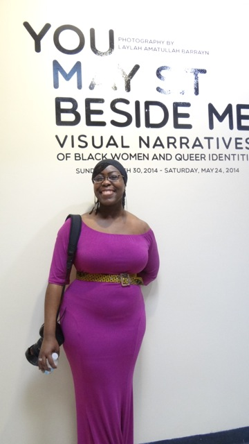 """Laylah Amatullah Barrayn, curator for the exhibit, """"You May Sit Beside Me: Visual Narratives of Black Women and Queer Identities,"""" at Restoration's Skylight Gallery, March 31 - May 24, 2014"""