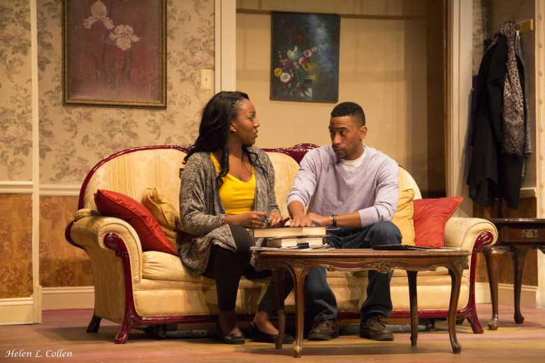 """Melissa Joyner and Nate James in """"Maid's Door"""" by Cheryl Davis, playing now at The Billie Holiday Theatre"""