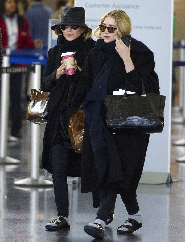 Winter Coats and Sandals are a match made in Olsen