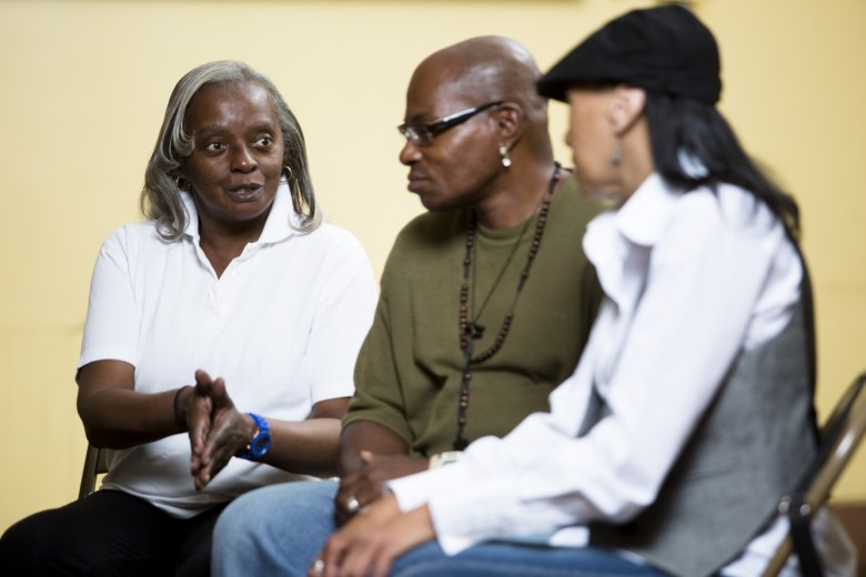 START Patients during group therapy