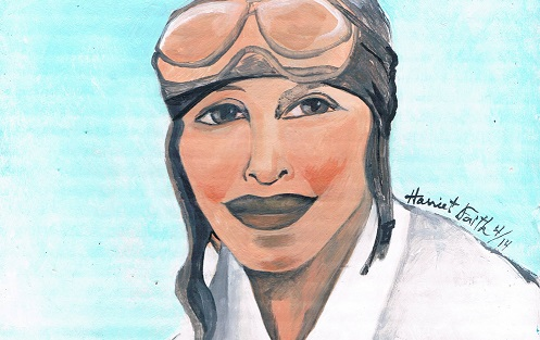Art, Hand-Lettering, Illustration, Portrait, Harriet Faith, Painting, Amelia Earhart, Adventure, Get It Done, Record Breaking, Great American, Do It, Flying, Flight, Inspiration, Quotes, Dreams, Pay Attention To Your Dreams