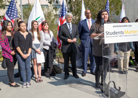 """""""Lawyers for the students named in the case, Vergara v. California, have argued that California students are subject to an unfair system that deprives them of a fair education, which translates into the loss of millions of dollars in potential earnings over their lifetimes.""""  Photo: studentsmatter.org"""