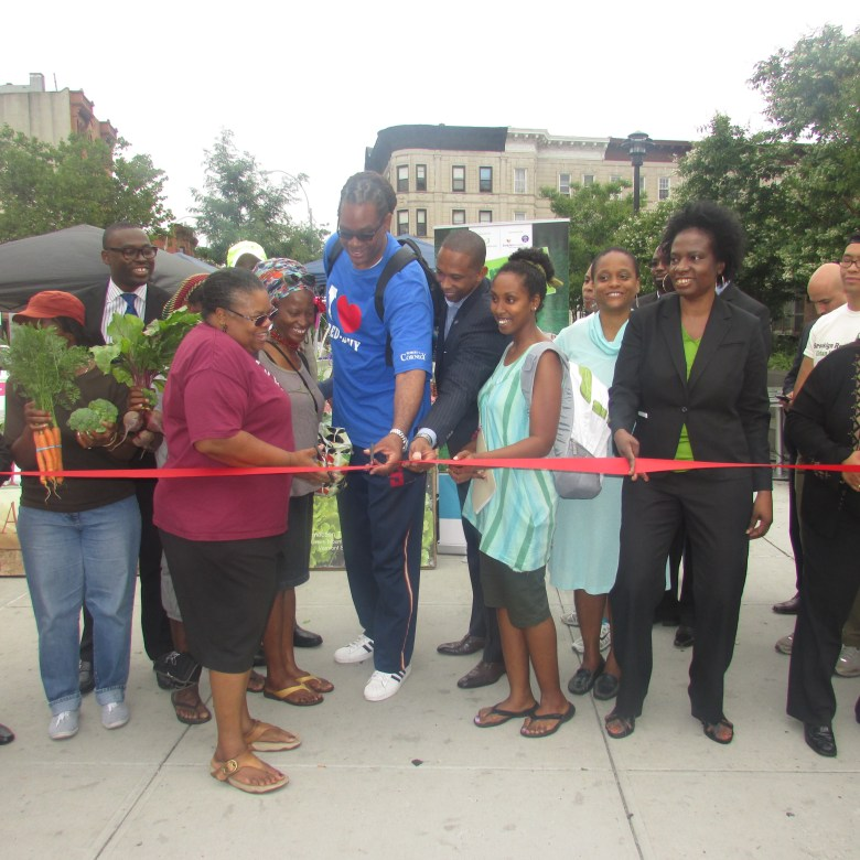 Marcy Plaza Farmers Market Opening Day, July 16, 2014
