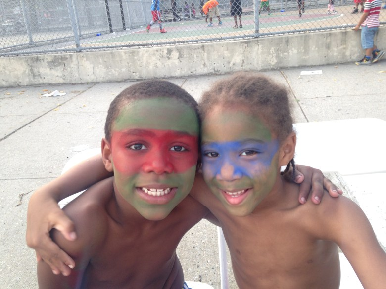 Face painting was a favorite activity at Bed-Stuy's National Night Out Against Crime events.