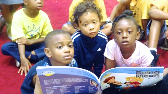 Little Sun People Day Campers take part in the Youth Literacy Volunteer Project