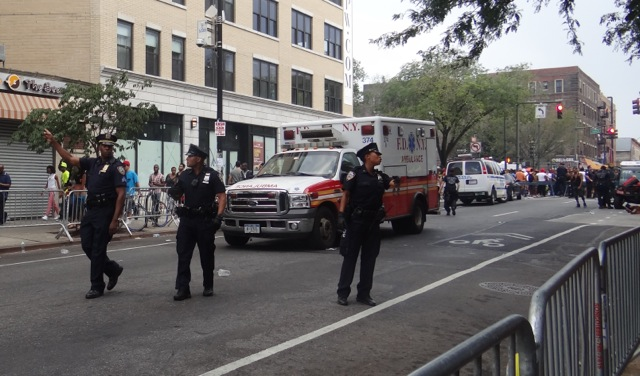 Police at West Indian Day Parade