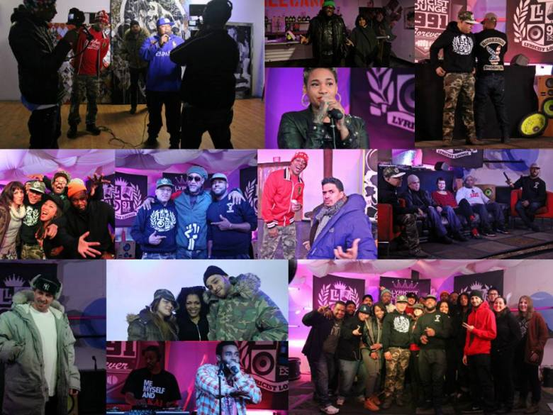 A bunch of artists from Lyricist Lounge