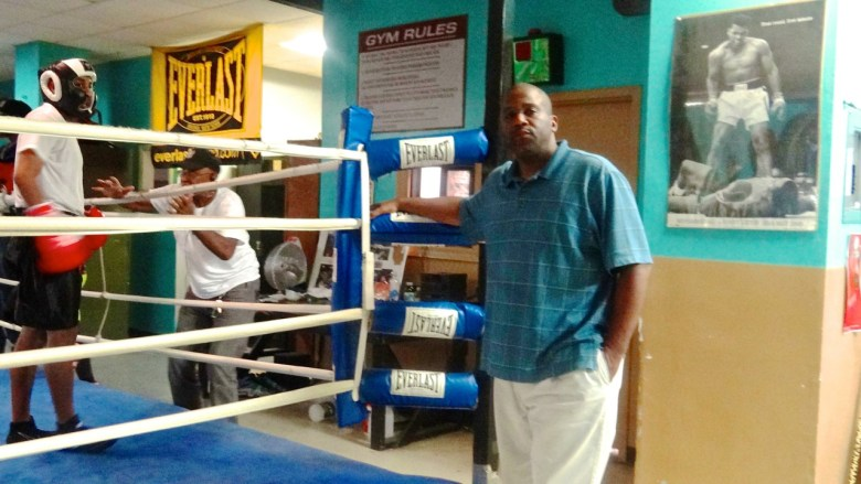 Lorenzo Steele, at the Bed-Stuy Boxing Gym where he volunteers regularly