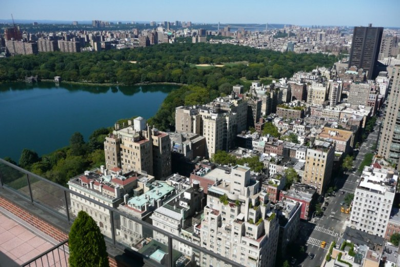 Aerial view of the Upper East Side of Manhattan