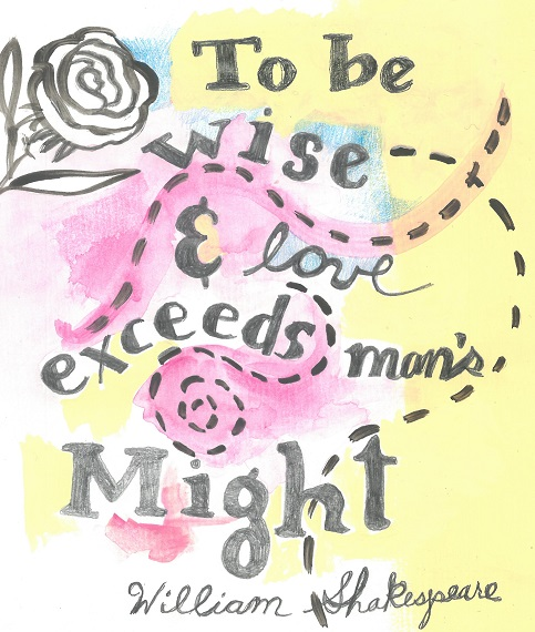 Art, Hand-Lettering, Illustration, Harriet Faith, Painting, Success, Motivation, Daily Practice, Inspiration, Quotes, Dreams, Pay Attention To Your Dreams, William Shakespear, Troilus, Cressida, Gods, Might, Strength, Love, Wisdom