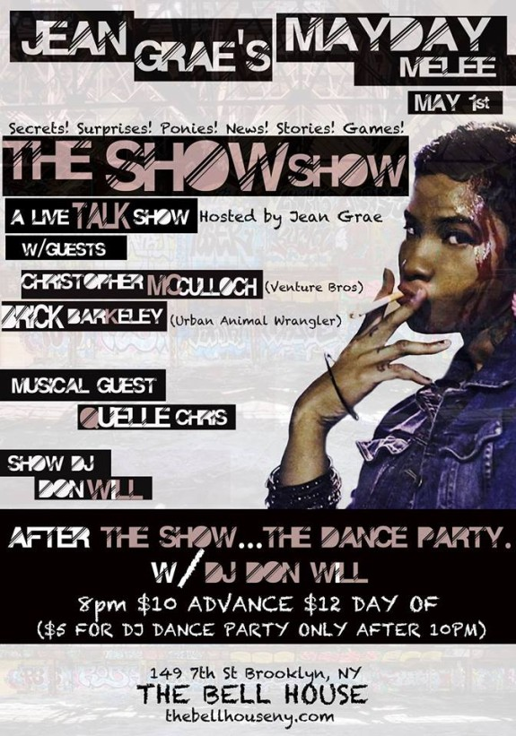 Talk Show, Comedy, Some rap artist action, maybe a good wrastle!