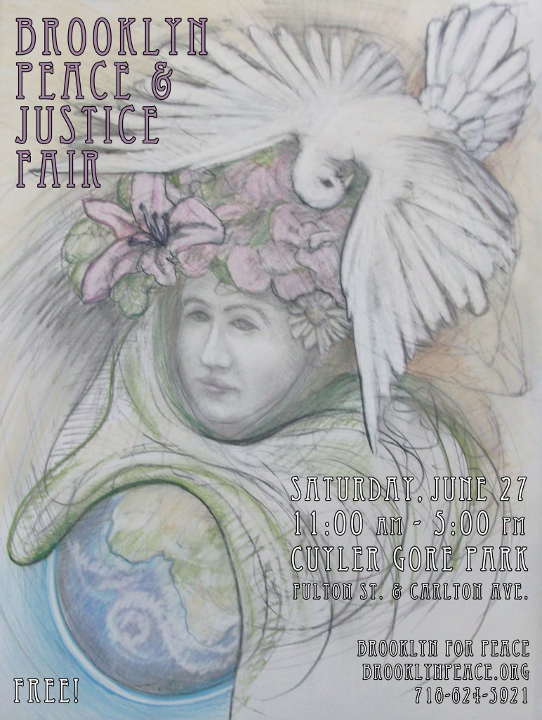 You will find Music, Spoken Word, Theater, and Conversation about Racial and Environmental Justice at the Peace Fair