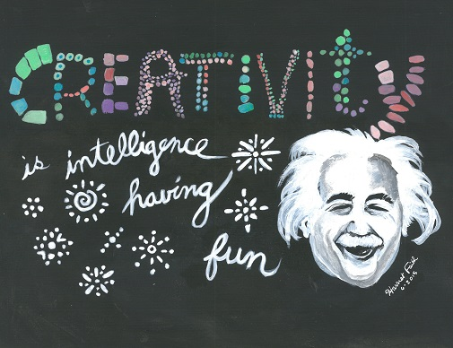 Harriet Faith, Art, Illustration, Pay Attention To Your Dreams, Science, Quotes,  Inspiration, Motivation, Dreams, Hand Lettering, Drawing, Painting, Albert Einstein, Intelligence, Creativity, Science, Theory Of Relativity, Fun