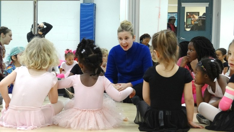 Michelle Wiles, founder of Ballet Next, paid a visit to the tiny ballerinas of the Bedford YMCA