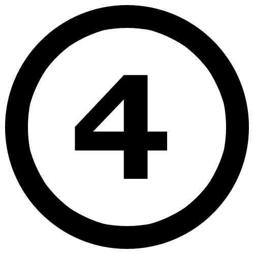 the-number-4-in-a-circle