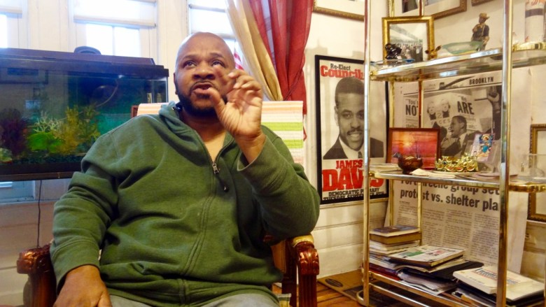 Geoffrey Davis in his home, just recovering from a bout with the Shingles virus.