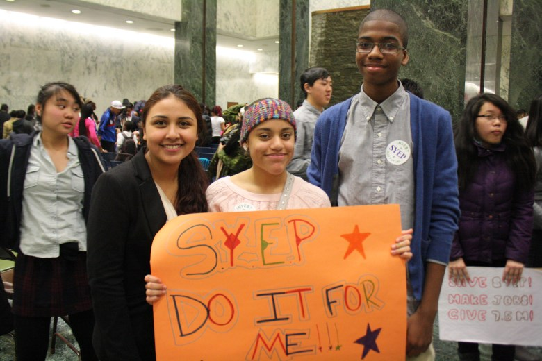 A coalition of nearly 100 organizations headed to Albany to lobby legislators to increase funding for the Summer Youth Employment Program (SYEP)