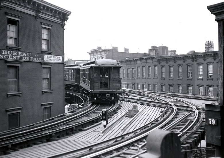 Myrtle Ave & Grand Ave_El Train_Source Unknown
