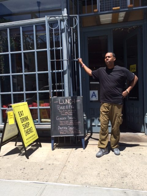 Jason Moore, the manager of Myrtle Avenue's Pillow Cafe & Lounge