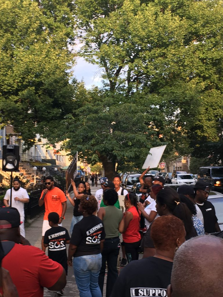 S.O.S., protest, rally, 1333 Prospect Place, Stop Shooting Start Living
