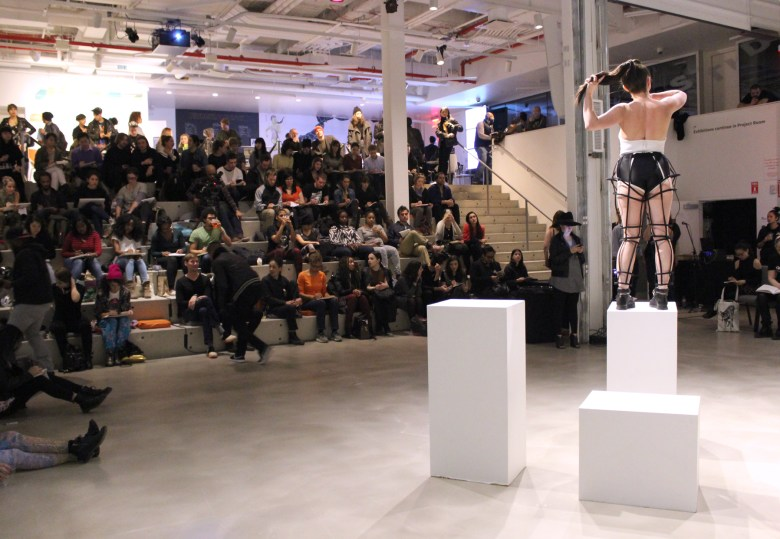 """Last year's """"Drink and Draw"""" featured dancers from FLUCT performing to live music while wearing costumes by celebrity-designer, Chromat. Photo by Abigail Clark."""