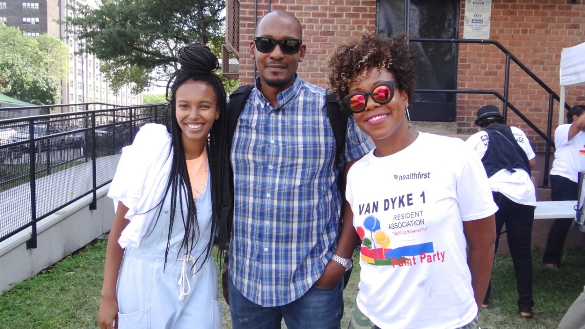 Afropunk Army Volunteers (l to r): Saada Ahmed and Alaric Campbell, and Manushka Magliore, Director of Community Affairs