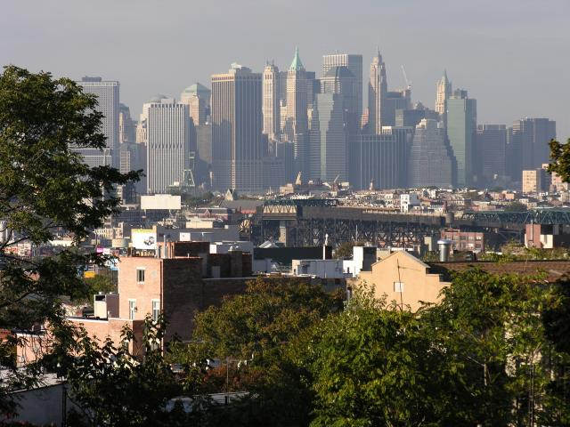 Make America Great...view from Battle Hill to Manhattan today