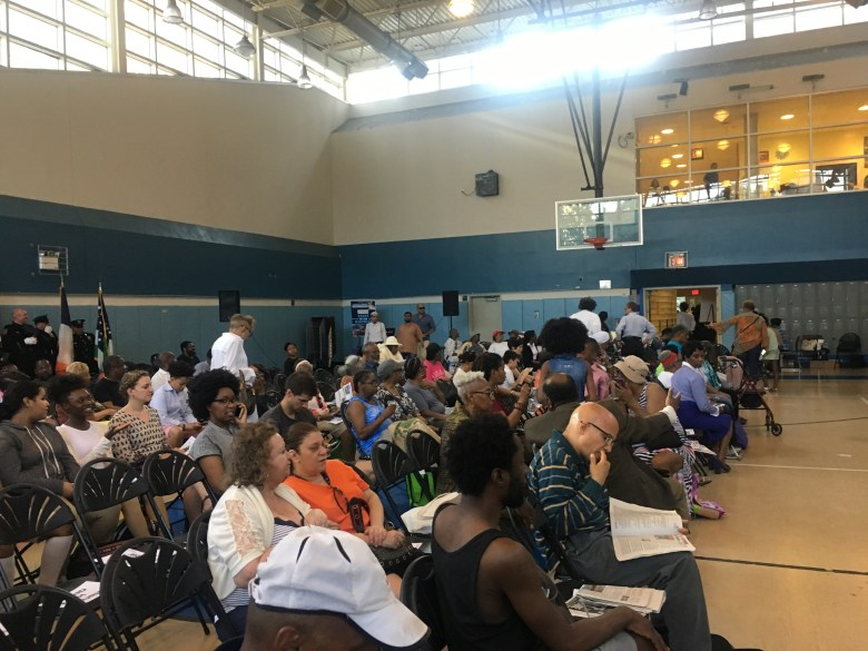 Crowd at Ingersoll Community Center before Laurie Cumbo delivers 35th District State of the District