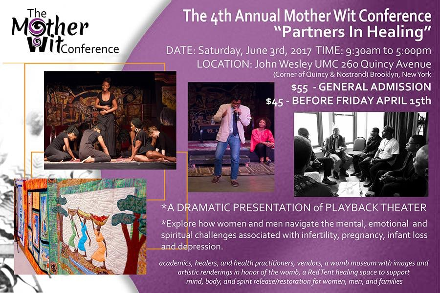 Spirit of A Woman, DOHMH, John Wesley United Methodist Church , Bedford-Stuyvesant, Darryl Aiken-Afam, Bed-Stuy, Reproductive Health, reproductive rights, reproductive choices, Mother Wit Conference, Playback Theater, poetry, art, storytelling, womb museum, reproductive healing