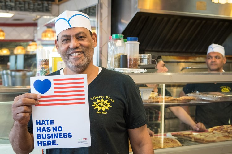 NYC BID, Hate Has No Business Here, small businesses, small business community, Clinton Hill, Three Furies, Starting Now design, BK Reader, Myrtle Avenue Brooklyn Partnership ,MARP, anti-racism, anti-homophobia, anti-gay, anti-sexism, aniti-misogeny, anti-xenophobia,