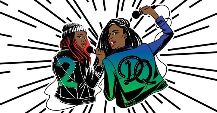 2 Dope Queens, BK Reader, Phoebe Robinson, Jessica Williams, Kings Theatre, HBO specials, comedians of color, podcast, lgbtq podcast, feminist podcast, African American podcast, stand-up comedy, The Daily Show, Trevor Noah, The Nightly Show with Larry Wilmore, Late Nigh with Seth Myers, Broad City, You Can't Touch My Hair,