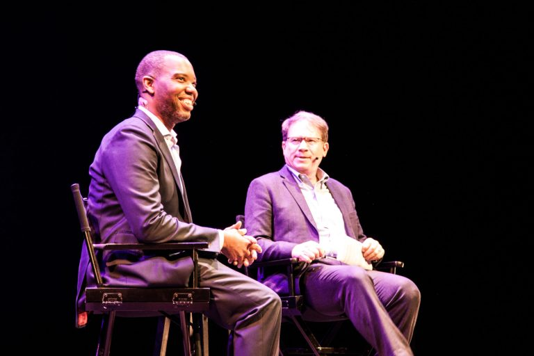 BK Reader, Ta-Nehisi Coates, Jeffrey Goldberg, Kings Theatre, reparations, white privilege, book signing, discussion, Greenlight Bookstore, The First White President, The Case for Reparations, white privilege, racial inequality