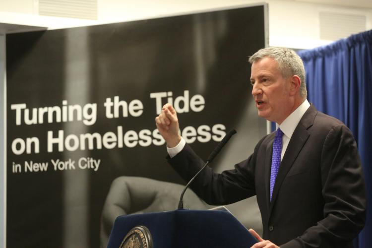 homelessness, BK Reader, Bill de Blasio, de Blasio administration, homelessness NYC, cluster sites, housing crisis, homeless crisis, affordable housing, gentrification, Legal Aid Society, not-for-profit developers, Brooklyn Borough President Eric Adams, affordable housing,