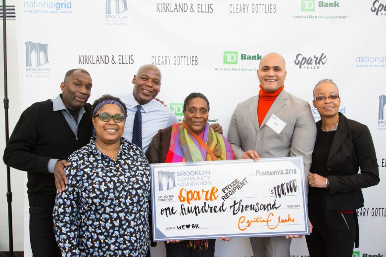 Brooklyn Community Foundation, Cecilia Clarke, Spark Prize 2018, Cave Canem Foundation, theCenter for Law and Social Justice at Medgar Evers College,Exalt Youth,GRIOT Circle, Red Hook Initiative, Brooklyn Philanthropy, Brooklyn NonProfits
