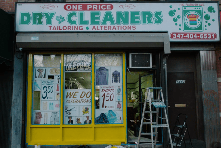 One of the participating local businesses, One Price Dry Cleaner.