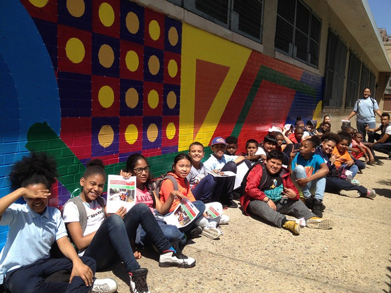 Creative Art Works partnered with the health department on the Active Design in Schools initiative.