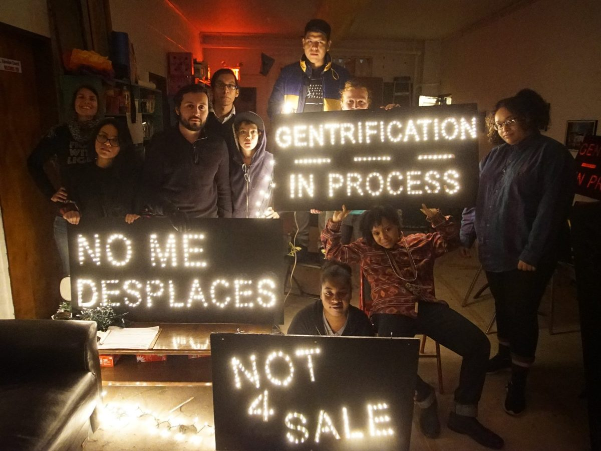 Mi Casa Es No Su Casa sheds light on gentrification with artistic signs and potent messages.
