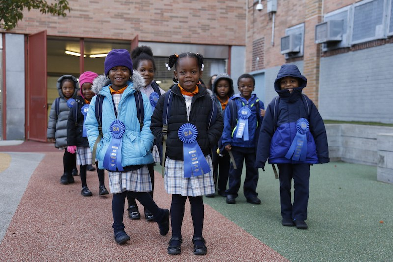 The young scholars received the well-deserved honor of the National Blue Ribbon Award.