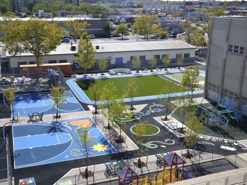 East New York has a new community playground to get the kids and the neighborhood moving.