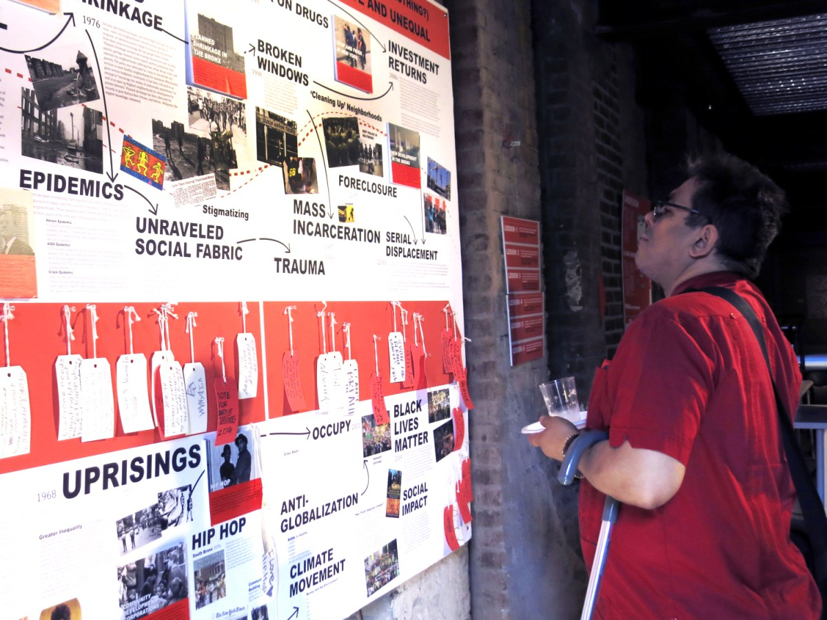 """The interactive exhibit explores the history of redlining in New York City and highlights current social movements working to """"undesign"""" the racist legacy"""